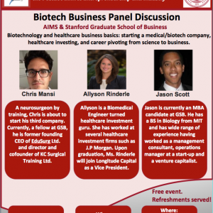 Biotech Business Panel Discussion